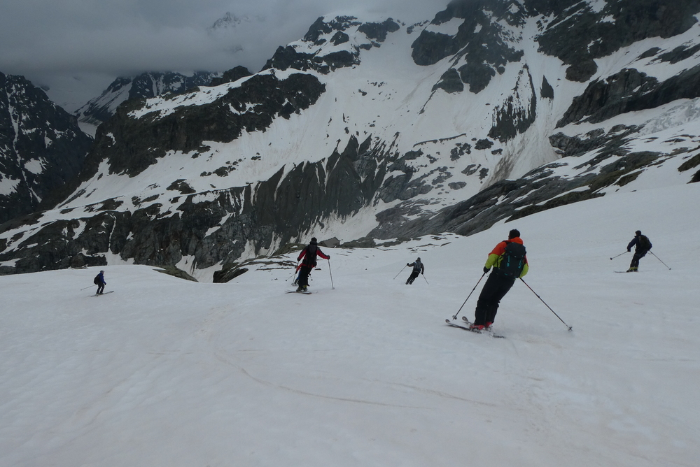 Raid ski Ecrins - Refuge du Glacier Blanc
