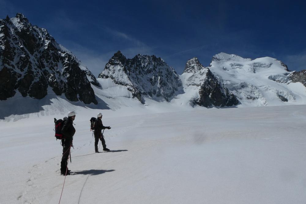 Couloir de la Sagne - Traversée du Glacier Blanc