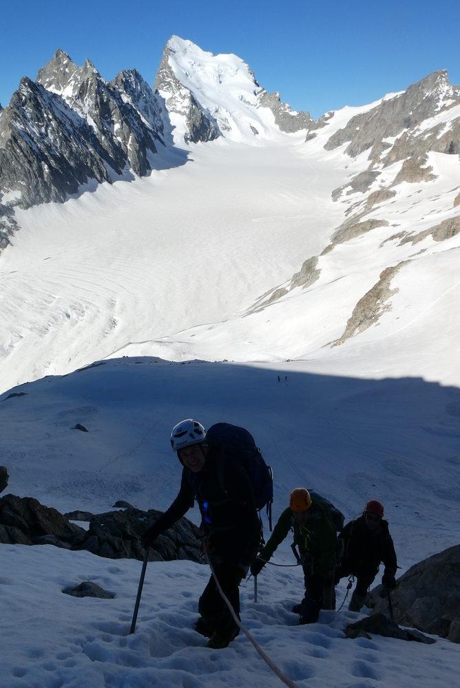 Dôme des Ecrins - 3 jours - La pente raide du Pic d'Arsine
