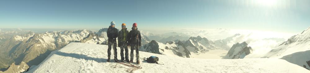 Dôme des Ecrins - 3 jours - Pano au sommet