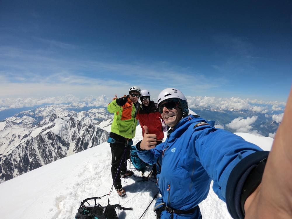 Mont-Blanc - Stan, Manu et JB au sommet