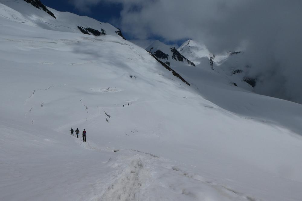 Breithorn - Traversée jusqu'à Val d'Ayas