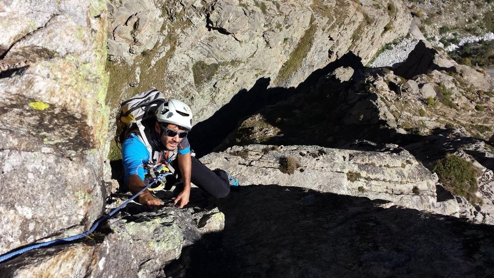 Grande voie Bérarde - Paravalanche - Para Facile - Antoine redécouvre l'escalade