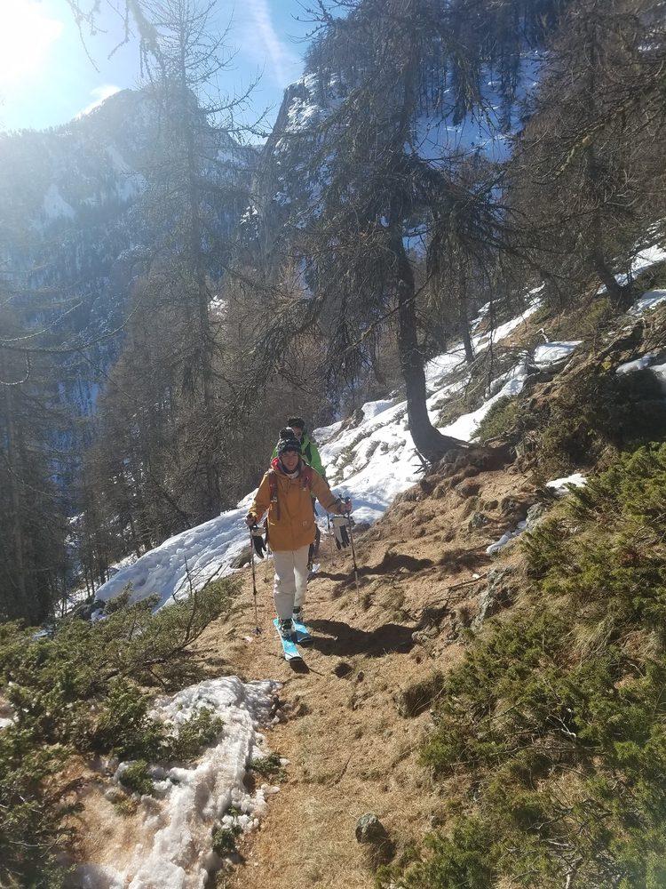 Col de Tramouillon - Ski de rando - Sur fond d'aiguilles