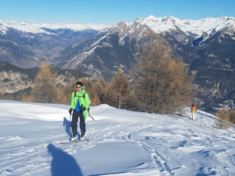Col de Tramouillon - Ski de rando - L'arrivée au Col