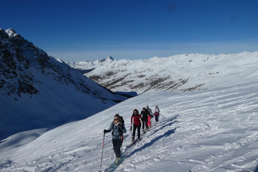 Ski rando initiation - Pic Traversier - Vers le Col Longet