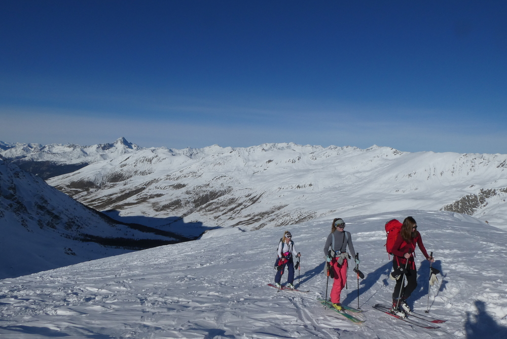 Ski rando initiation - Pic Traversier - Près du sommet