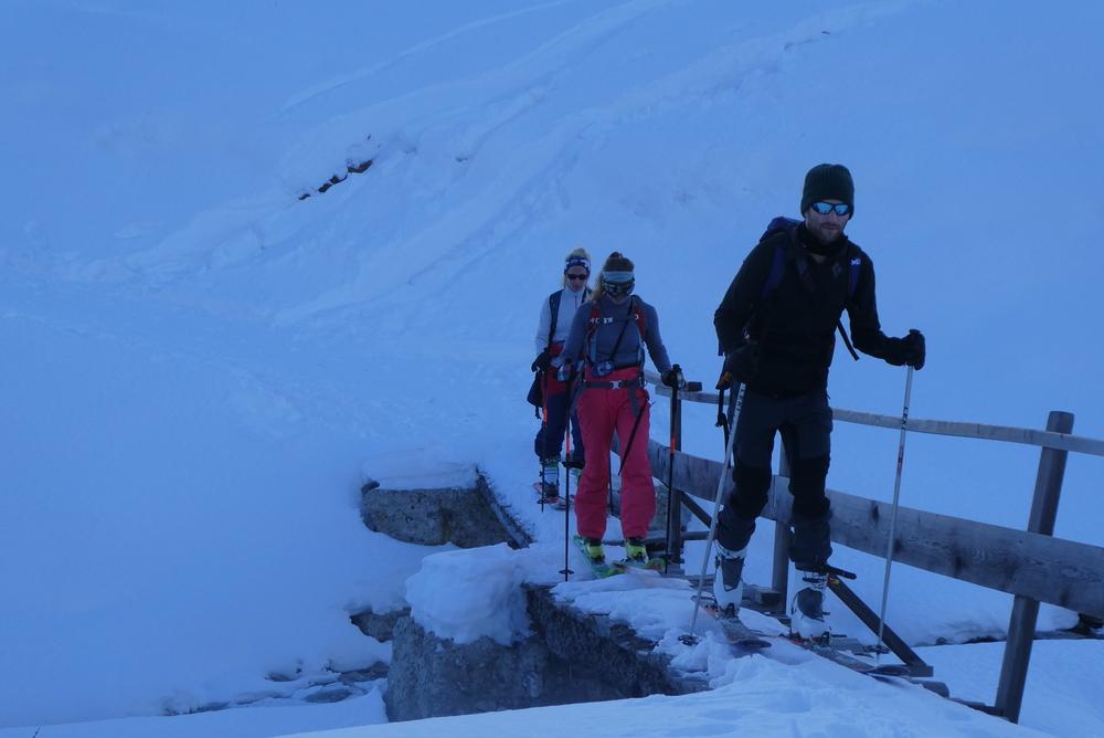 Initiation ski randonnée - Pic Cornivier - Le petit pont de bois