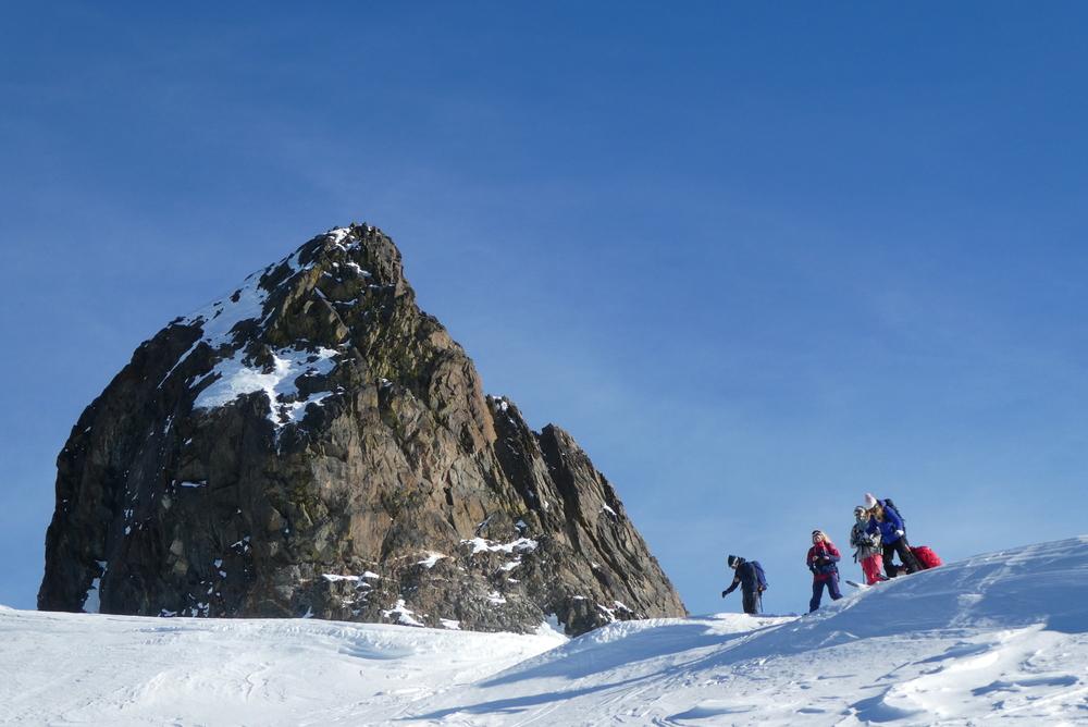 Initiation ski randonnée - Pic Cornivier - Sur fond de Rouchon
