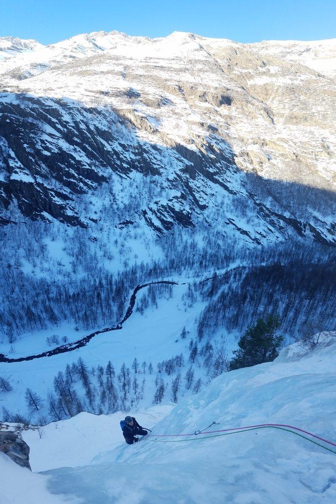 Initiation cascade de glace - Paulo Folie - Pierrot en termine