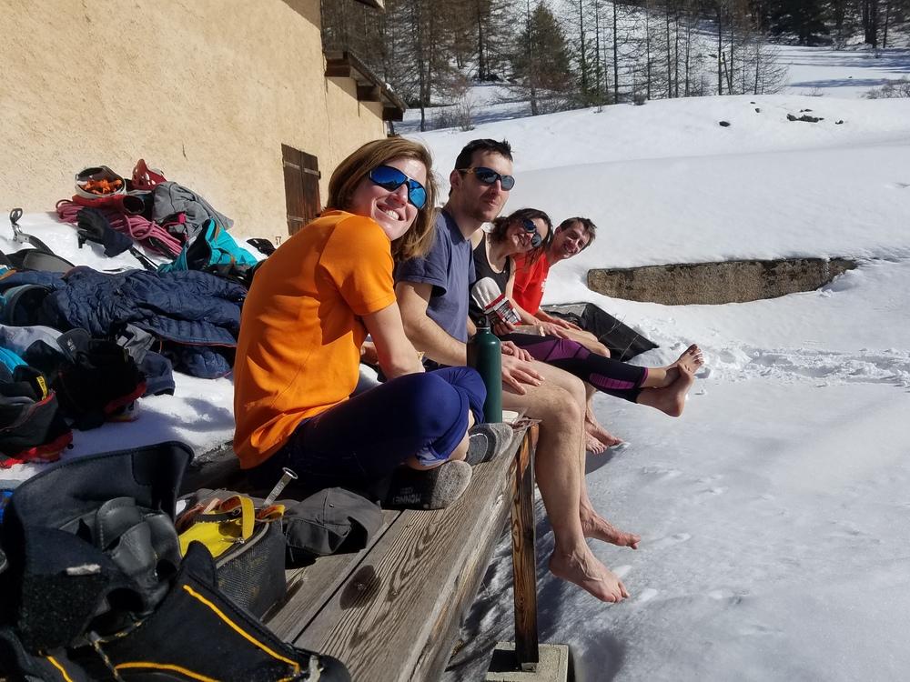 Torrent de Queyrières - Rude la montagne hivernale