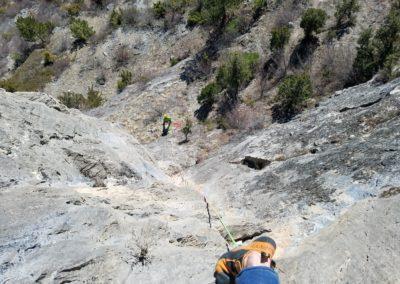 Escalade Grande voie - Champcella - La rampe de la Rama; première longueur