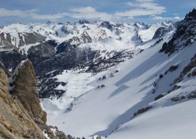 Ski rando Ceillac - Pas du Curé - Skis sur le sac