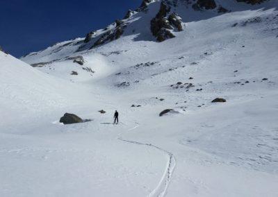 Ski rando Ceillac - Pas du Curé - Du ski tranquille