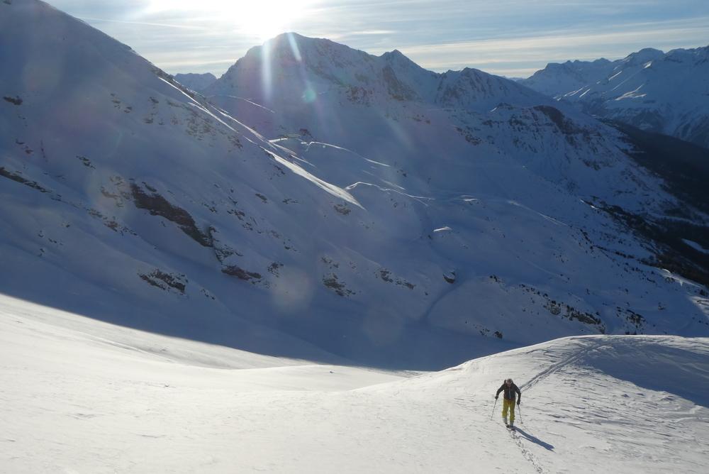 Freerando Valcenis - Montée au dessus du télésiège