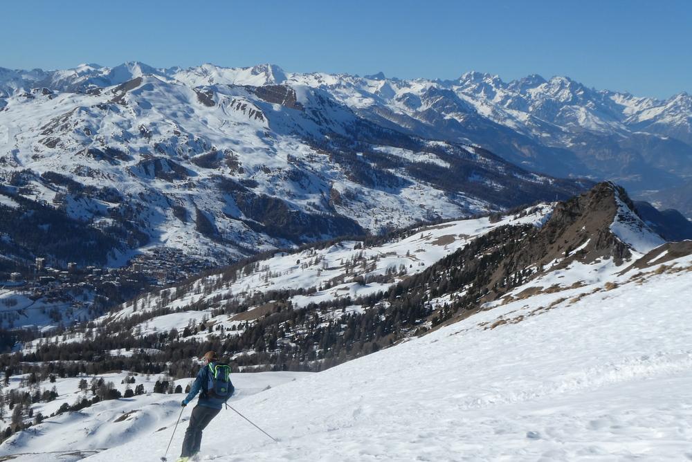 Initiation ski de randonnée - Paneyron - Pas mal le décor pour skier