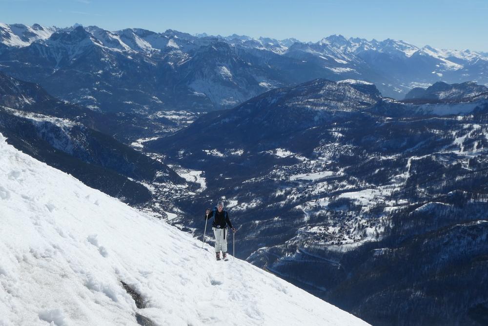 Découverte ski de rando - La Blanche - Christelle vers la Croix du Chastellet