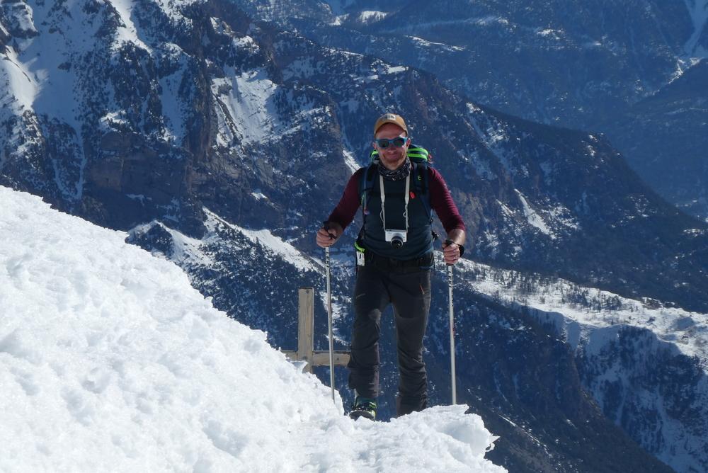 Découverte ski de rando - La Blanche - Yves en mode touriste