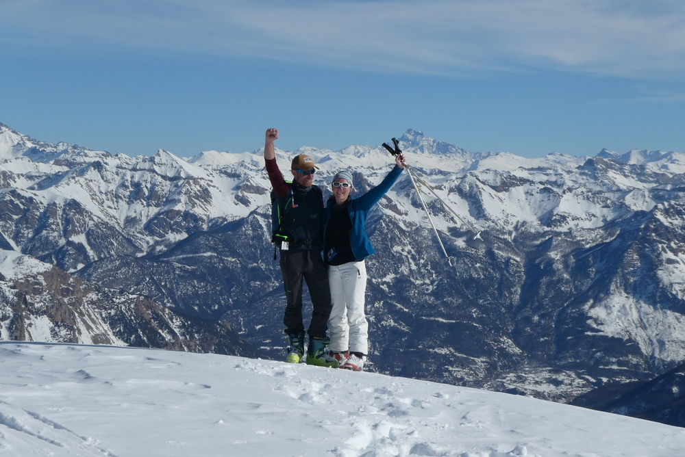 Découverte ski de rando - La Blanche - Au sommet