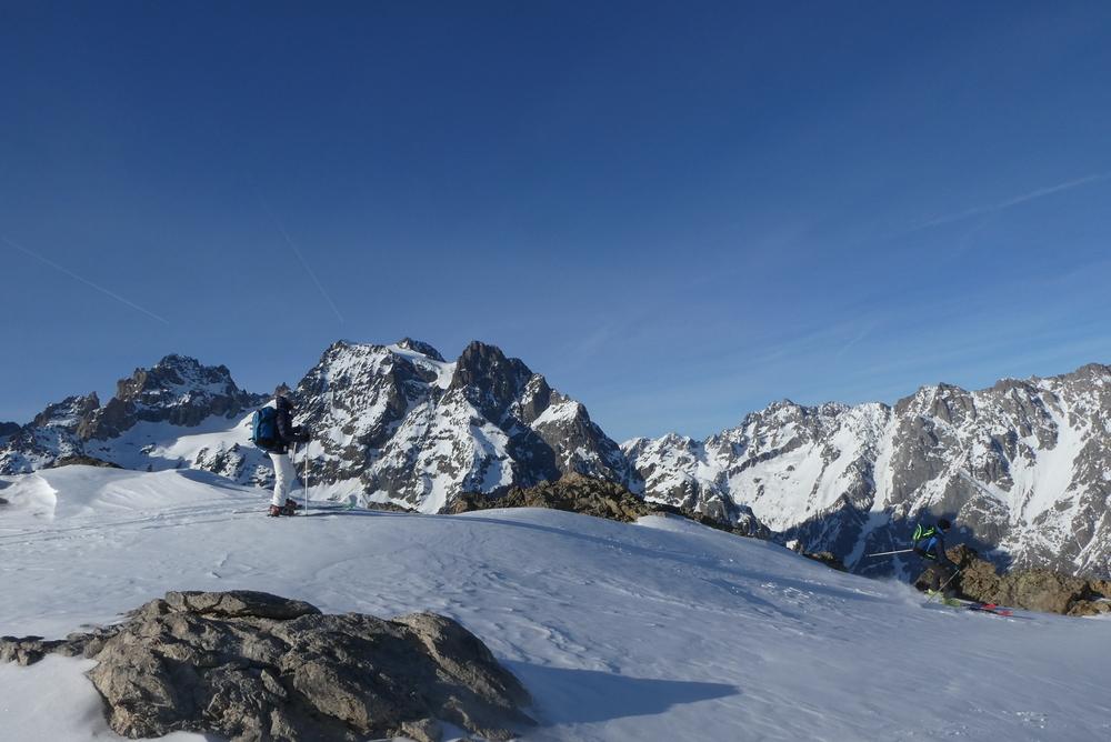 Découverte ski de rando - La Blanche - y a pire comme endroit pour skier