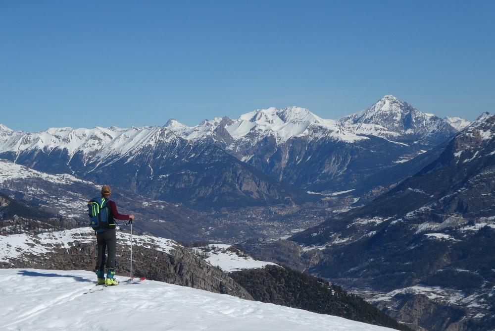 Découverte ski de randonnée - Tête des Lauzières - Rejoignant la crête