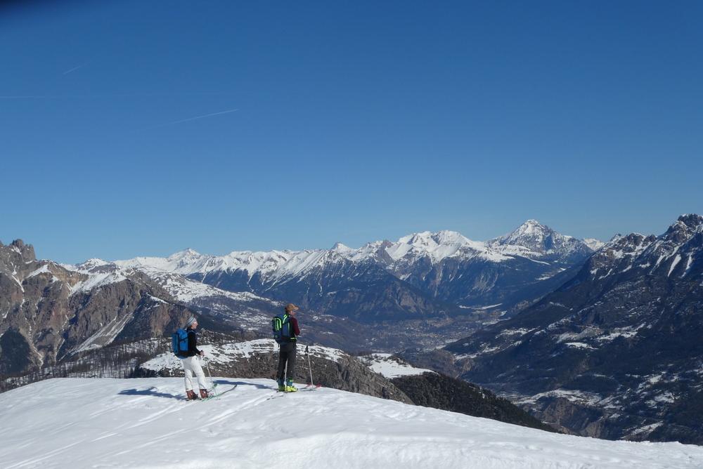 Découverte ski de randonnée - Tête des Lauzières - Contemplation amoureuse