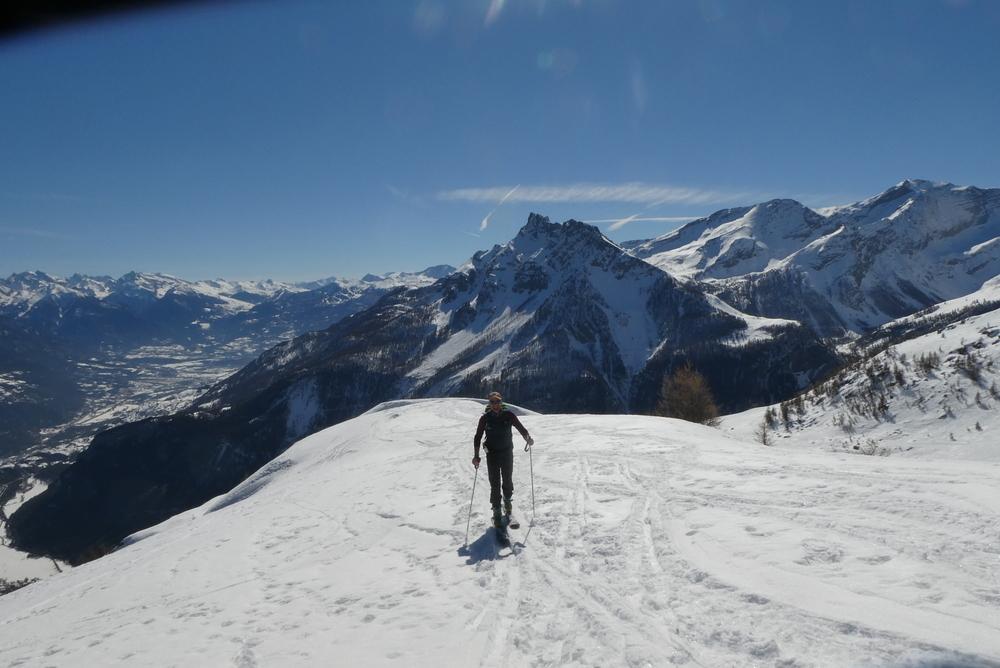 Découverte ski de randonnée - Tête des Lauzières - Vers la Tête des Lauzières