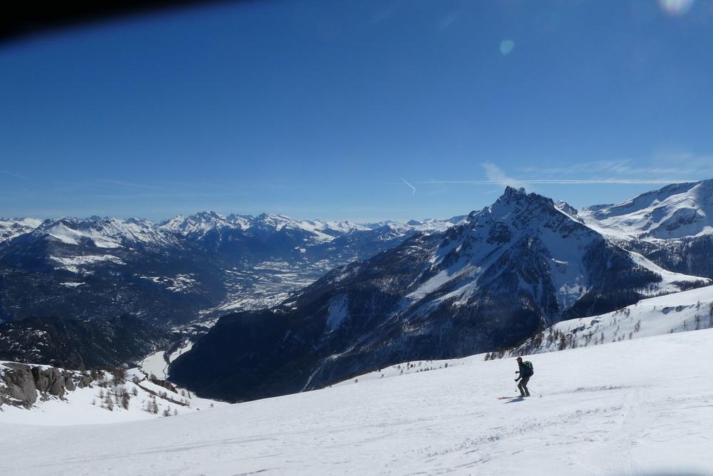 Découverte ski de randonnée - Tête des Lauzières - Toujours cette vue pour skier