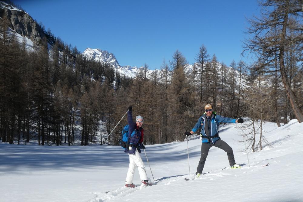 Découverte ski de randonnée - Tête des Aluzières - Devant le Pelvoux
