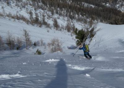 Aiguillas - Ski de rando - Patrick à l'oeuvre