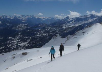 La Blanche - Pelvoux - Initiation - A la montée