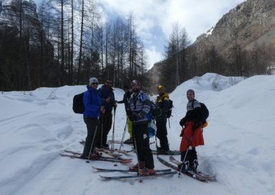Week-end ski Dormillouse - La troupe au départ