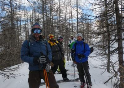 Week-end ski Dormillouse - La troupe sur le téton