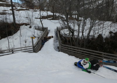 Week-end ski Dormillouse - Loupage de pont