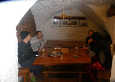 Week-end ski Dormillouse - Début d'apéro