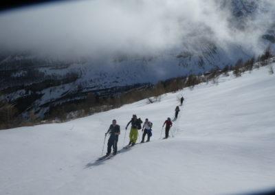 Week-end ski Dormillouse - La trouep en mouvement
