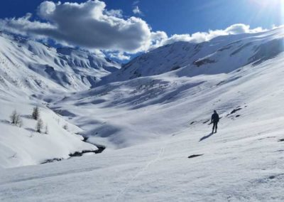 Freerando Les Orres - Tête de l'Aupet - Des kilomètres à glisser