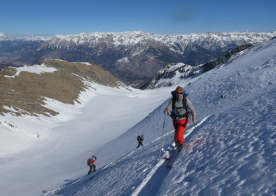 Raid ski randonnée Cerces - Montée vallon du Crouzet