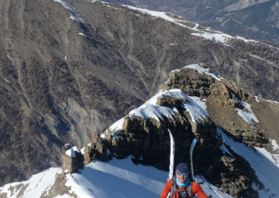 Raid ski randonnée Cerces - Portage de skis