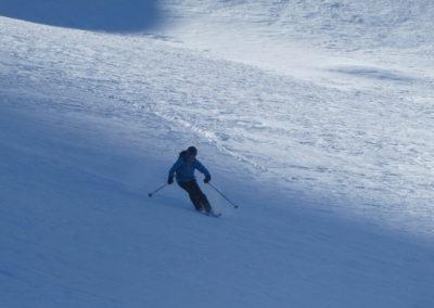 Raid ski randonnée Cerces - Laurent dans le vallon du Crouzet