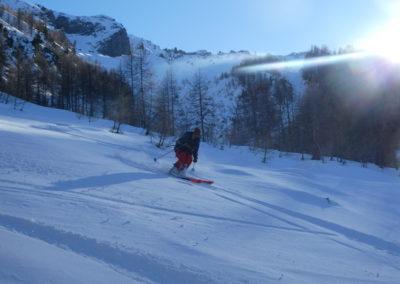 Raid ski randonnée Cerces - Le bas du Crouzet