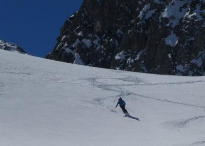 Raid ski randonnée Cerces - Laurent vers la crête de Baude
