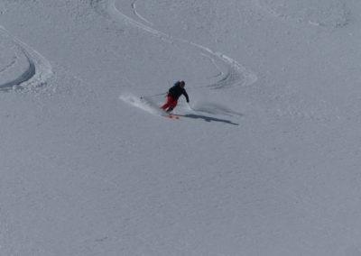 Raid ski randonnée Cerces - Antoine dans la powpow