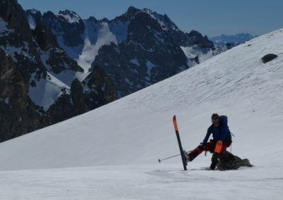 Raid ski randonnée Cerces - Repos