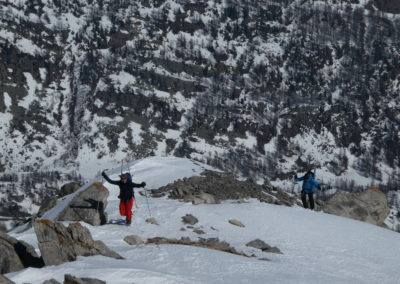 Raid ski randonnée Cerces - Remontée en quête d'un énième champ de popow
