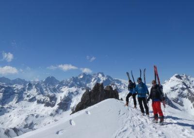 Raid ski randonnée Cerces - Vers la Pointe des Cerces