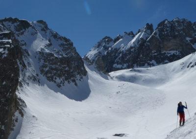 Raid ski randonnée Cerces - En redescendant de la Pointe des Cerces