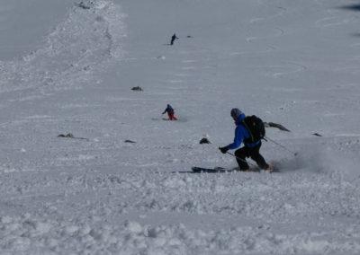 Raid ski randonnée Cerces - Moquette en bande