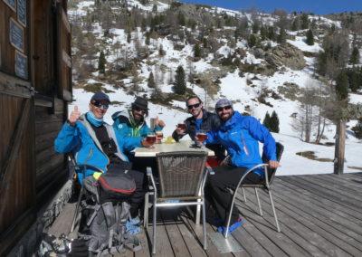 Raid ski randonnée Cerces - Bière finish!
