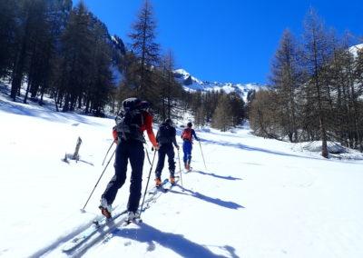 Raid ski randonnée Cerces - En route
